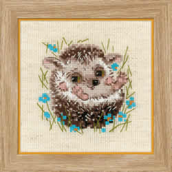 Borduurpakket Little Hedgehog - RIOLIS