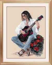 Borduurpakket Guitarist - RIOLIS