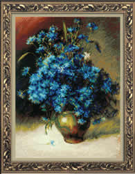 Borduurpakket Cornflowers after I. Levitan's Painting - RIOLIS