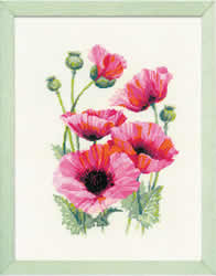 Borduurpakket Pink Poppies - RIOLIS