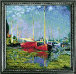 Borduurpakket Argenteuil after C. Monet's Painting  - RIOLIS