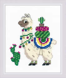 Cross stitch kit Llama - RIOLIS