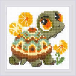 Borduurpakket Little Turtle - RIOLIS
