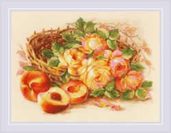 Borduurpakket Juicy Peach - RIOLIS