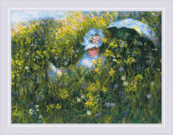 Cross stitch kit In the Meadow after C. Monet's Painting - RIOLIS