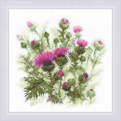 Cross stitch kit Thistle - RIOLIS