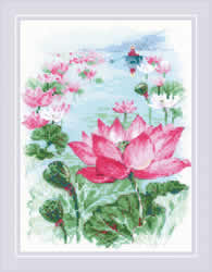 Cross stitch kit Lotus Field - Fisher - RIOLIS