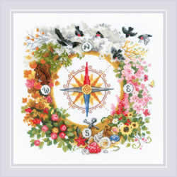 Cross stitch kit Compass - RIOLIS