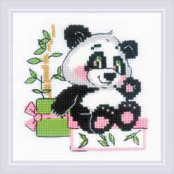 Cross stitch kit Panda Gift - RIOLIS