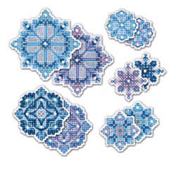 Borduurpakket Snowflakes Decorations - RIOLIS
