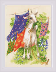 Cross stitch kit Naughty Goat - RIOLIS