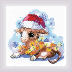 Cross stitch kit New Year's Calf - RIOLIS