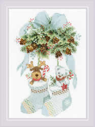 Cross stitch kit Bear, Cones and Deer - RIOLIS