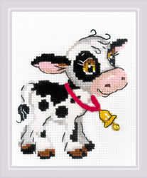 Cross stitch kit Calf with a Bell - RIOLIS