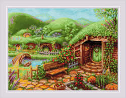 Cross stitch kit Green Hills - RIOLIS