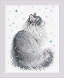 Borduurpakket Snowy Meow - RIOLIS