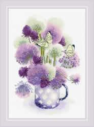 Cross stitch kit Purple Allium - RIOLIS