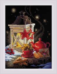Cross stitch kit Winter Tea Time - RIOLIS