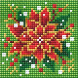 Diamond Mosaic Poinsettia  - RIOLIS