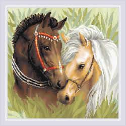 Diamond Mosaic Pair of Horses - RIOLIS