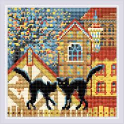 Diamond Mosaic City & Cats Autumn  - RIOLIS