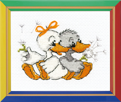 Cross Stitch Kit Grandma's Merry Gees - RIOLIS