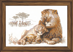 Cross Stitch Kit Lion Paradise - RIOLIS