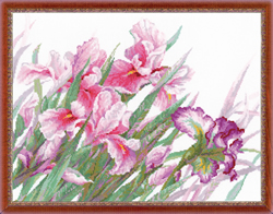 Cross Stitch Kit Irises - RIOLIS
