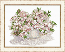 Cross Stitch Kit Cherry blossom - RIOLIS