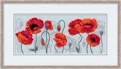 Borduurpakket Scarlet Poppies - RIOLIS