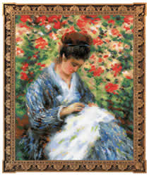 Cross Stitch Kit Camille Monet after C.Monet's Painting - RIOLIS