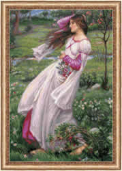 Cross stitch kit Windflowers after J. W. Waterhouse's Painting - RIOLIS