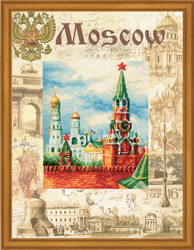 Cross Stitch Kit Cities of the World. Moscow - RIOLIS