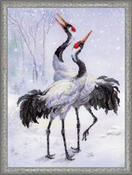 Borduurpakket Cranes - RIOLIS
