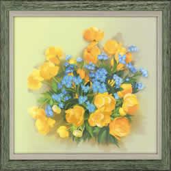 Handwerkpakket Globe Flowers - Satin Stitch - RIOLIS