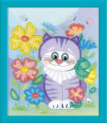 Borduurpakket Kitten - RIOLIS