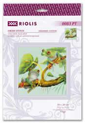 Borduurpakket Frogs - RIOLIS