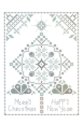 Cross Stitch Chart Quaker Winter Tree - Rosewood Manor