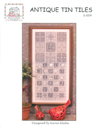 Cross Stitch Chart Antique Tin Tiles - Rosewood Manor