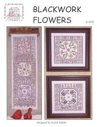 Cross Stitch Chart Blackwork Flowers - Rosewood Manor