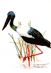Cross Stitch Chart Jabiru - Ross Originals
