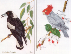 Cross Stitch Chart Magpie & Gang-gang Cockatoo - Ross Originals