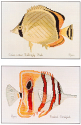 Cross Stitch Chart Criss-cross & Beaked Coralfish - Ross Originals