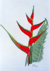 Cross Stitch Chart Heliconia - Ross Originals