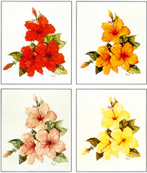 Cross Stitch Chart Hibiscus - Ross Originals