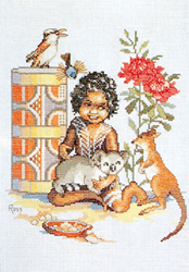 Cross Stitch Chart Bush Babies - Ross Originals