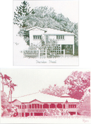 Borduurpatroon Sheridan Street & Cane Farm - Ross Originals