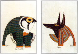 Cross Stitch Chart Anubis and Ra-Harakhte - Ross Originals