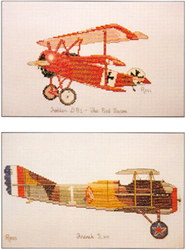 Cross Stitch Chart Red Baron & French SXIII - Ross Originals