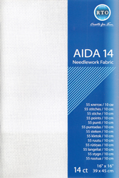 Borduurstof Aida 14 count - White - RTO